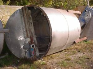 1000 Gallon Stainless Steel Tank Cone Bottom