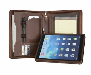 Custom Travel Portfolios Engraved Personalized Padfolio genuine Leather Document