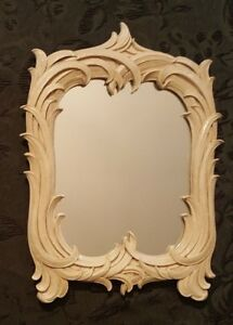 Vintage Syroco Wood Table Wall Mirror Art Deco Ornate Antique Made In N Y
