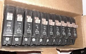 Lot Of 10 Eaton Cutler hammer Chf120 Ch120 1 Pole 20 Amp Circuit Breakers
