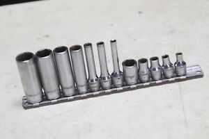 Lot Of 12 Snap On 1 4 Inch Drive Metric 6 Point Sockets