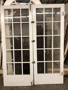 Interior French Doors With Glass 79 1 2 X 30 1 4ea 60 1 2 Total Open