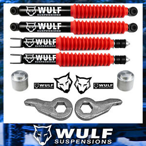 3 Front 3 Rear Lift Kit W Shocks For 2000 2006 Chevy Avalanche 1500