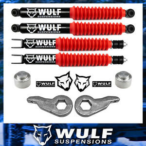 3 Front 2 Rear Leveling Lift Kit W Shocks For 2000 2006 Chevy Avalanche 1500