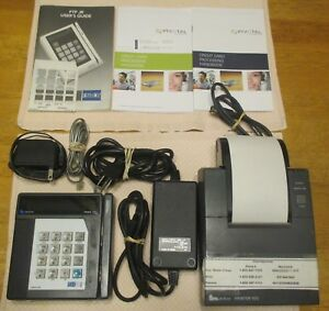 1991 Verifone Tranz 330 Card Reader W Printer 900 Cables pwr Supplies manuals