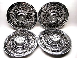 Set 1988 1991 Ford Ltd Crown Vic Marquis 15 Simulated Wire Wheel Covers
