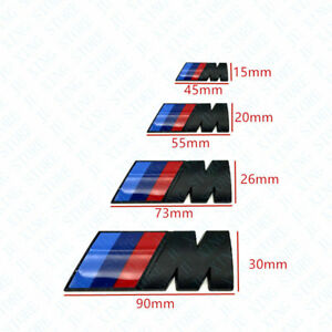 Matte Black Badge Emblem Sticker Car Rear Trunk Decal For Bmw M1 M2 M3 M4 M5 M6