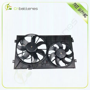 For 2005 2013 Volkswagen Jetta 2 5l L5 Radiator Condenser Black Cooling Fan