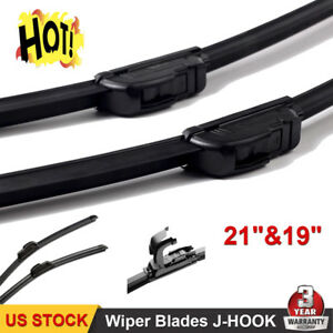 21 19 Inch Bracketless Windshield Wiper Blades Oem Quality J Hook All Season