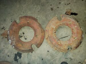 Massey Ferguson 205 Combine Outer Wheel Weights Canda 241035m1 Tractor 65lbs 410