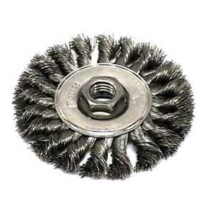 Sait 06426 4 X 5 8 11 Twisted Wire Wheel Metal Brush 2x New