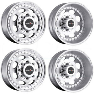 4 new 19 Vision 181 Hauler Dually Wheels 19 5x6 75 8x170 102 143 Machined Rims