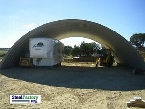 Steel Manufactured 41x40x16 Quonset Barn Farm Building Kit Factory Direct