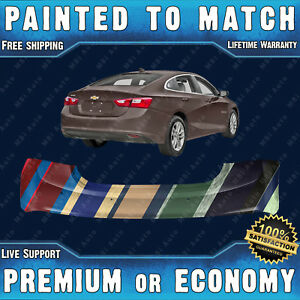Painted To Match Rear Bumper Replacement For 2016 2017 2018 Chevy Malibu W Park