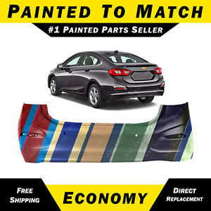 New Painted To Match Rear Bumper Cover For 2016 2018 Chevy Cruze L Ls Lt Premier