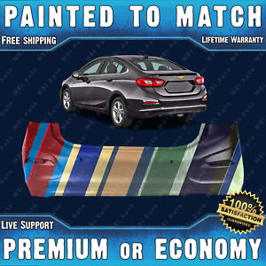 New Painted To Match Rear Bumper Replacement For 2016 2018 Chevy Cruze W Park