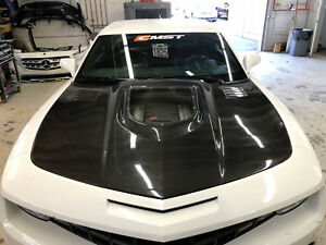 2010 2014 Chevrolet Camaro Cmst Carbon Fiber Hood With Clearview Glass