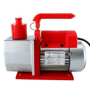 Yaetek 2 stage Rotary Vane Vacuum Pump 5 0cfm 0 3pa 1 2hp For Hvac