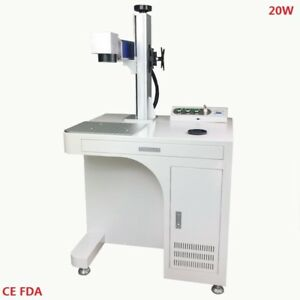 Desktop Fiber Laser Marking Machine 20w Raycus Source Fiber Laser Engraver