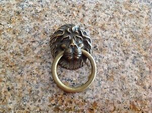 Vintage Bronze Door Knobs Lion Face