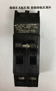 Zinsco Sylvania Gte 100 Amp 2 Pole Rc38al Circuit Breaker Perfect Ships Priority