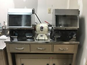 Dental Lab Equipment Lathe With Bench Dust Collector filter