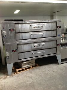 Bakers Pride 78 Double Deck Pizza Oven Y602 Nat Gas