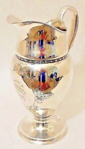 A Tall Sterling Silver Water Pitcher Tiffany Co New York C 1902 7