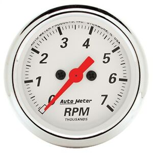 Autometer 1397 Arctic White Electric Tachometer Fits 2 4 Pulse Ignition Signals