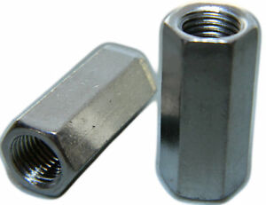 Stainless Steel Fine Threaded Rod Hex Coupling Extension Nuts 1 2 20 Qty 25