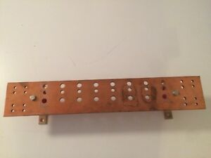Copper Wall Mounted Ground Bus Bar 23 X 4 And 1 4 Thick 40 Hole