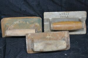 Vintage Lot Concrete Edger Groover Cement Masons Littlestown A Welz Acme 214