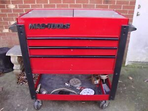 Mac Tools Heavy Duty 3 Drawer Rolling Service Utility Cart Toolbox