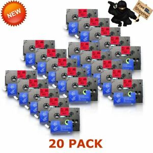 20pk Tz431 Tze431 Red Label Tape For Brother P touch Pt d200bt Gl 100 Pt 1000