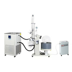 50l Motor Lift Rotary Evaporator Complete Turnkey W Water Vacuum Pump chiller