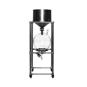 10l Lab Vacuum Suction Filter With Stainless Steel Funnel glass Receiving Flask