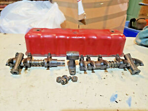 Farmall F12 Tractor Engine Rocker Arm Push Rods Valve Cover Ihc Parts I12 F14