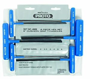 Stanley Proto J4969 Metric T handle Hex Key Set 6 piece