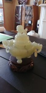 Jade Incense Burner With Stand