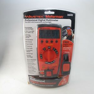 Wavetek Meterman 34xr Pro Digital Multimeter True rms Temperature And Backlight
