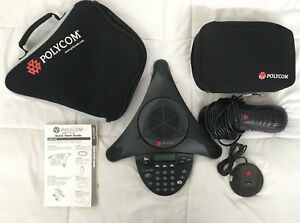 nice Polycom Soundstation 2 Conference Speaker Phone W Wall Module