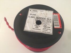 Cme Wire Cable 12 Awg Stranded Machine Tool Red 500 Feet 600v C 12 Thhn 500ft