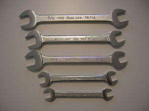 Martin Tools 5pc Open End Wrench Set Chrome New U s a