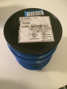 Cme Wire Cable 10 Awg Stranded Machine Tool Blue 500 Feet 600v C 10 Thhn 500ft