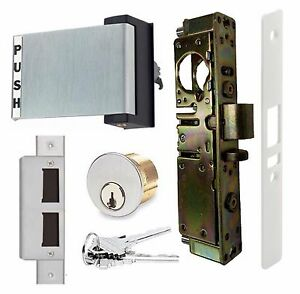Adams Rite Type Hd Storefront Door Deadlatch W Paddle Handle Lock Cylinder