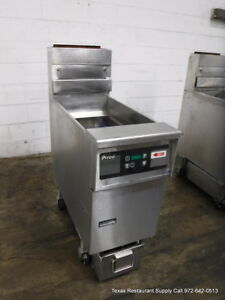 Pitco Gas Single 40 50 Lbs Digital Fryer With Filtration System