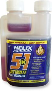 Helix Racing Products 5 In 1 Fuel Treatment 8oz Bottle 700604500837 3706 0055