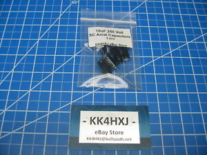 Sc Gha Series Axial Electrolytic Capacitors 250v 10uf 5 Pieces