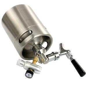 64 Oz Homebrew Keg System Kit For Home Brew Beer beer Dispensor co2 Regulator Am