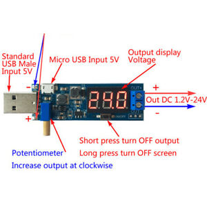 Dc dc Usb Step Up down Power Supply Module Adjustable Boost Buck Converter Tool